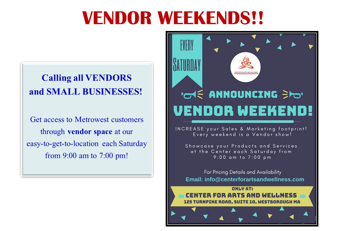 Vendor Weekends!